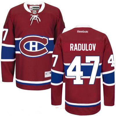 Men's Montreal Canadiens #47 Alexander Radulov Reebok Red Home Hockey Stitched NHL Jersey