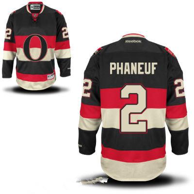 Men's Ottawa Senators #2 Dion Phaneuf Black Third Reebok Hockey Stitched NHL Jersey