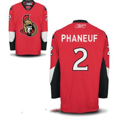 Men's Ottawa Senators #2 Dion Phaneuf Red Home Reebok Hockey Stitched NHL Jersey