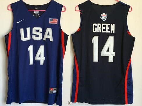 2016 Olympics Team USA Men's #14 Draymond Green Navy Blue Revolution 30 Swingman Basketball Jersey