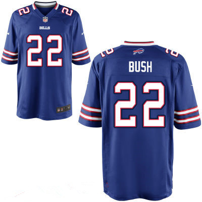 Men's Buffalo Bills #22 Reggie Bush Royal Blue Team Color Stitched NFL Nike Elite Jersey