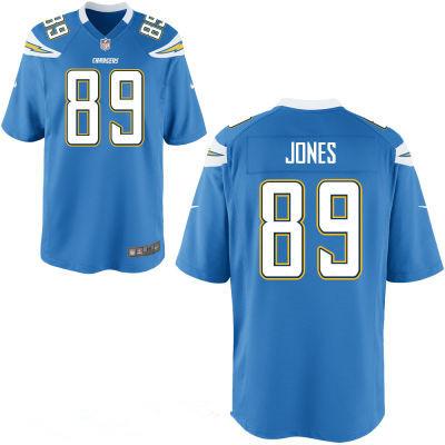 Men's San Diego Chargers #89 James Jone Light Blue Alternate Stitched NFL Nike Elite Jersey
