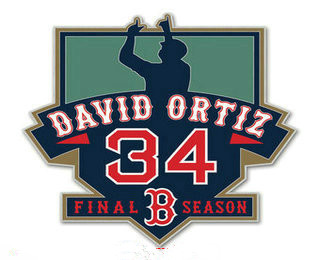2016 Boston Red Sox 34 David Ortiz Retirement Patch