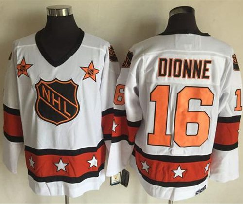 1972-81 NHL All-Star #16 Marcel Dionne White CCM Throwback Stitched Vintage Hockey Jersey