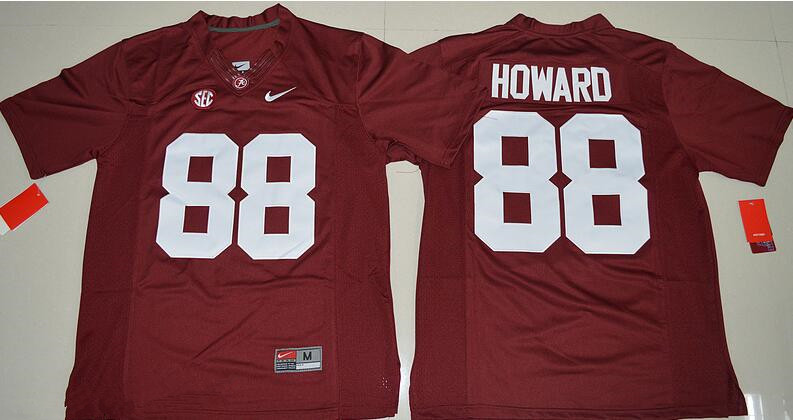 Men's Alabama Crimson Tide #88 O. J. Howard Red Stitched NCAA Nike Limited College Football Jersey