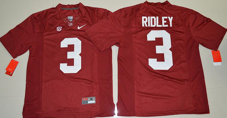 Men's Alabama Crimson Tide #3 Calvin Ridley Red Limited Stitched College Football Nike NCAA Jersey