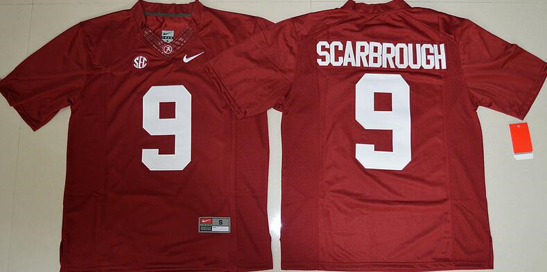 Men's Alabama Crimson Tide #9 Bo Scarbrough Red Limited Stitched College Football Nike NCAA Jersey