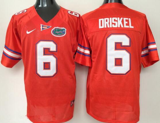 Men's Florida Gators #6 Jeff Driskel Orange Stitched NCAA Nike College Football Jersey