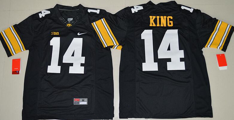 Men's Iowa Hawkeyes #14 Desmond King Black Limited Stitched College Football Nike NCAA Jersey