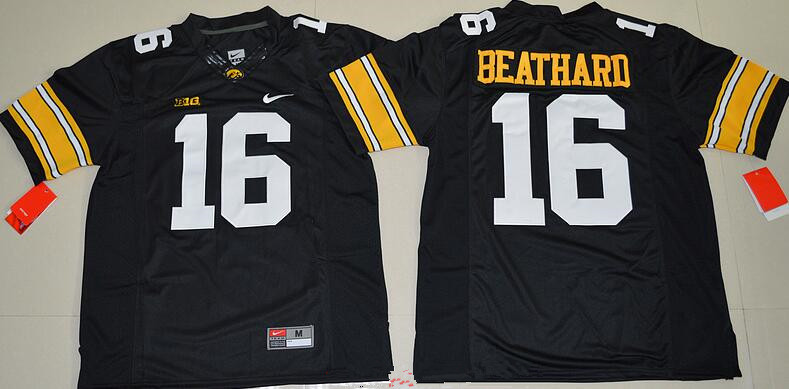 Men's Iowa Hawkeyes #16 C. J. Beathard Black Limited Stitched College Football Nike NCAA Jersey