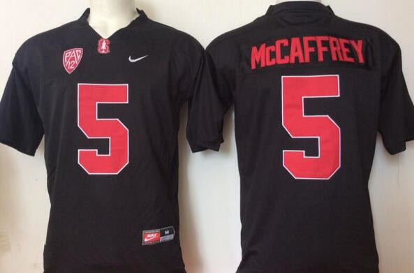 Men's Standford Cardinals #5 Christian McCaffrey Black Stitched College Football Nike NCAA Jersey
