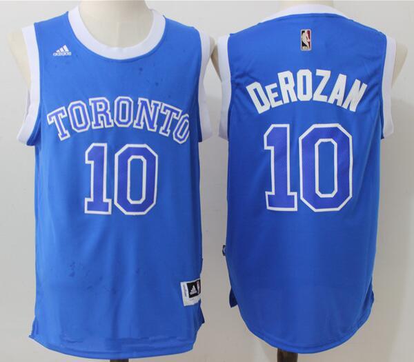 Men's Toronto Raptors #10 DeMar DeRozan Blue Stitched 2017 NBA Adidas Revolution 30 Swingman Jersey