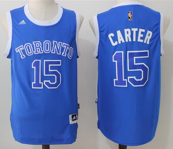 Men's Toronto Raptors #15 Vince Carter Blue Stitched 2017 NBA Adidas Revolution 30 Swingman Jersey