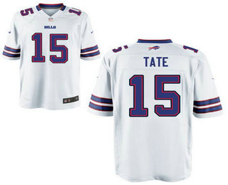 Men's Buffalo Bills #15 Brandon Tate White Road Stitched NFL Nike Elite Jersey