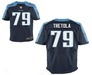 Men's Tennessee Titans #79 Sebastian Tretola Navy Blue Alternate Stitched NFL Nike Elite Jersey