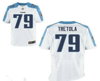 Men's Tennessee Titans #79 Sebastian Tretola White Road Stitched NFL Nike Elite Jersey