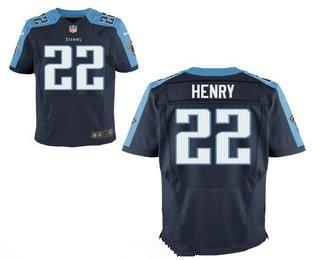 Men's Tennessee Titans #22 Derrick Henry Navy Blue Alternate Stitched NFL Nike Elite Jersey