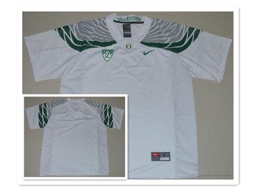Custom Men's Oregon Duck White College Football Nike Limited Jersey