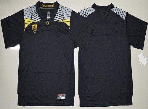Custom Men's Oregon Duck Black College Football Nike Limited Jersey