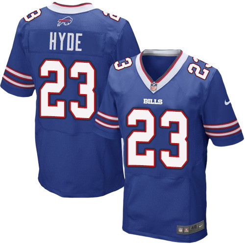 Nike NFL Buffalo Bills #23 Micah Hyde Elite Royal Blue Home Men's Jersey