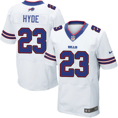 Nike NFL Buffalo Bills #23 Micah Hyde Elite White Road Men's Jersey