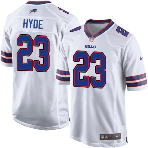 Nike NFL Buffalo Bills #23 Micah Hyde Game White Road Men's Jersey