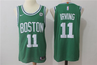Men's Boston Celtics #11 Kyrie Irving Green Stitched NBA Adidas Revolution 30 Swingman Jersey