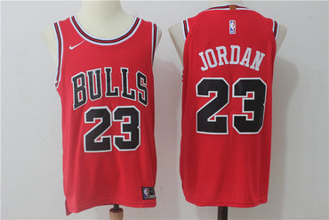 Men's Chicago Bulls #23 Michael Jordan Red 2017-2018 Nike Swingman Stitched NBA Jersey