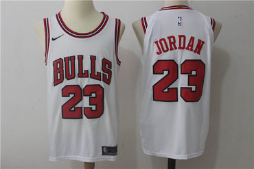 Men's Chicago Bulls #23 Michael Jordan White 2017-2018 Nike Swingman Stitched NBA Jersey