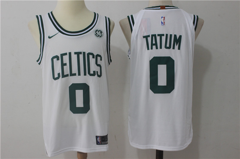 Men's Boston Celtics #0 Jayson Tatum White 2017-2018 Nike Swingman Stitched NBA Jersey