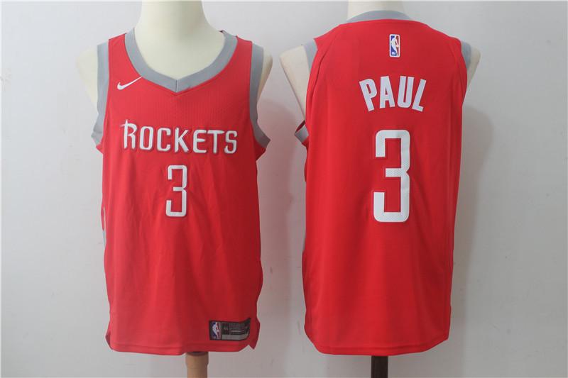 Men's Houston Rockets #3 Chris Paul New Red 2017-2018 Nike Swingman Stitched NBA Jersey