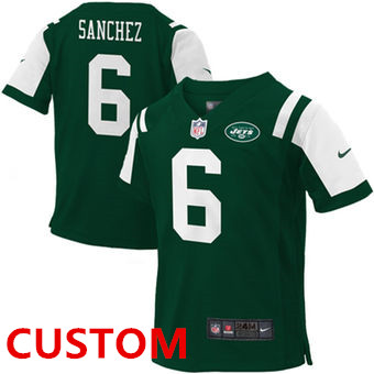 Custom Nike New York Jets Green Toddlers Jersey