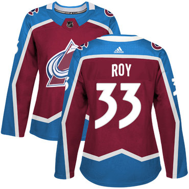 Adidas Colorado Avalanche #33 Patrick Roy Burgundy Home Authentic Women's Stitched NHL Jersey