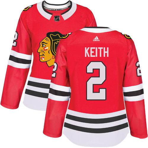Adidas Chicago Blackhawks #2 Duncan Keith Red Home Authentic Women's Stitched NHL Jersey