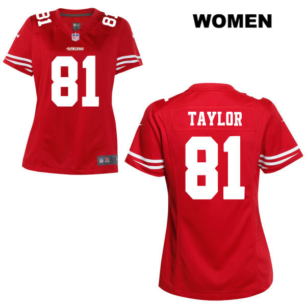 Women's Nike San Francisco 49ers #81 Trent Taylor Stitched  Home Red Game Football Jersey