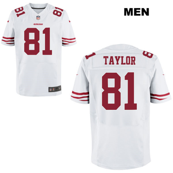 Mens Nike San Francisco 49ers #81 Trent Taylor Stitched White Elite Football Jersey