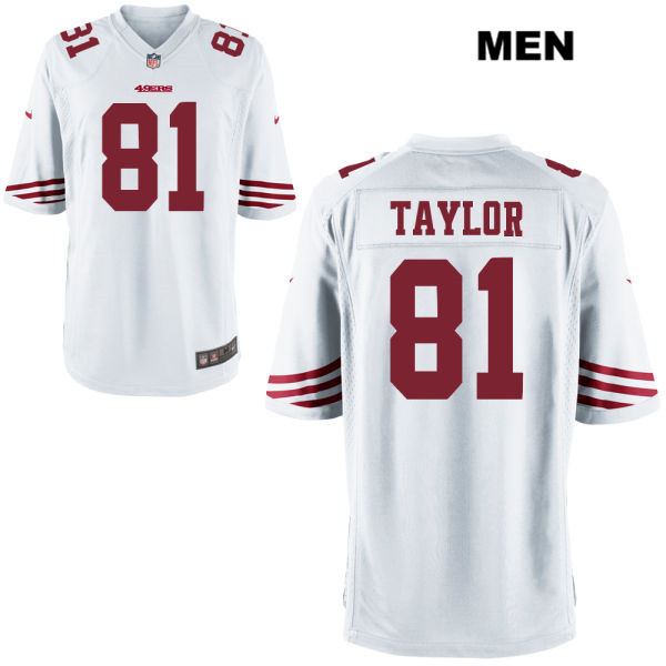 Mens Nike San Francisco 49ers #81 Trent Taylor Stitched  White Game Football Jersey
