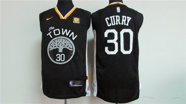 Men's Golden State Warriors #30 Stephen Curry Black 2017-2018 Nike Swingman Rakuten Stitched NBA Jersey