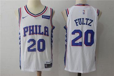 Men's Philadelphia 76ers #20 Markelle Fultz White 2017-2018 Nike Swingman Stubhub Stitched NBA Jersey