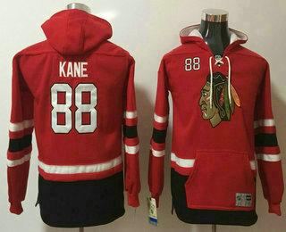 Youth Chicago Blackhawks #88 Patrick Kane NEW Red Stitched NHL Old Tim Hockey Hoodie