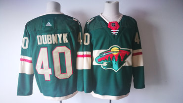 Men's Minnesota Wild #40 Devan Dubnyk Green 2017-2018 Hockey Stitched NHL Jersey