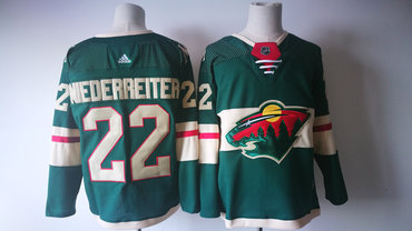 Men's Minnesota Wild #22 Nino Niederreiter Green 2017-2018 Hockey Stitched NHL Jersey