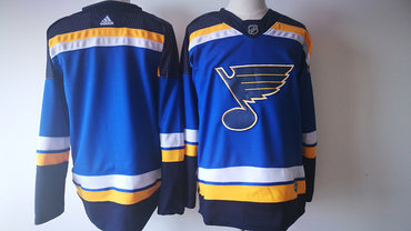 Men's St. Louis Blues Blue 2017-2018 Hockey Stitched NHL Jersey
