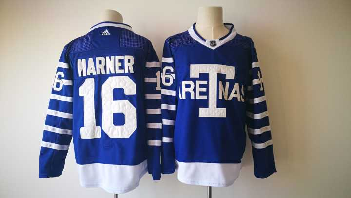 Men's Toronto Maple Leafs #16 Mitchell Marner Royal Blue Arenas 2017-2018 Hockey Stitched NHL Jersey