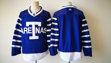 Men's Toronto Maple Leafs Blank Royal Blue Arenas 2017-2018 Hockey Stitched NHL Jersey