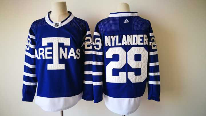 Men's Toronto Maple Leafs #29 William Nylander Royal Blue Arenas 2017-2018 Hockey Stitched NHL Jersey