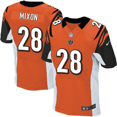 Men's Nike Cincinnati Bengals #28 Joe Mixon Orange Alternate Men's Stitched NFL Elite Jersey