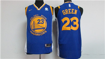 Nike Golden State Warriors #23 Draymond Green Blue 2017-18 Stitched NBA Jersey