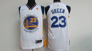 Men's Golden State Warriors #23 Draymond Green White 2017-2018 Nike Swingman Rakuten Stitched NBA Jersey