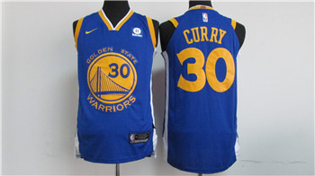 Nike Golden State Warriors #30 Stephen Curry Blue 2017-18 Stitched NBA Jersey